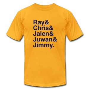 Michigan Fab Five - Men's T-Shirt by American Apparel