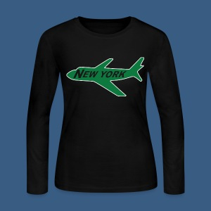 NY Jet - Women's Long Sleeve Jersey T-Shirt