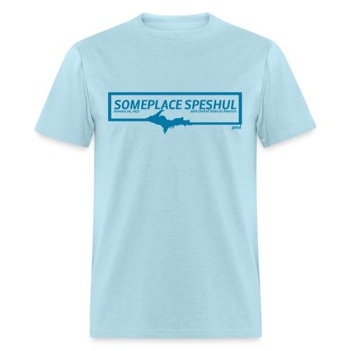 Someplace Speshul UPPER MI - Men's T-Shirt