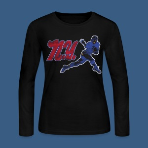 Vintage NY Pigskin - Women's Long Sleeve Jersey T-Shirt