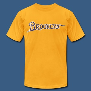 Brooklyn Old Font - Men's T-Shirt by American Apparel