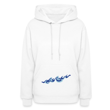 'Waves' Women's Hooded Sweatshirt