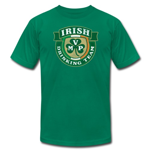 Irish Drinking Team MVP Shield (AA) - Men's T-Shirt by American Apparel