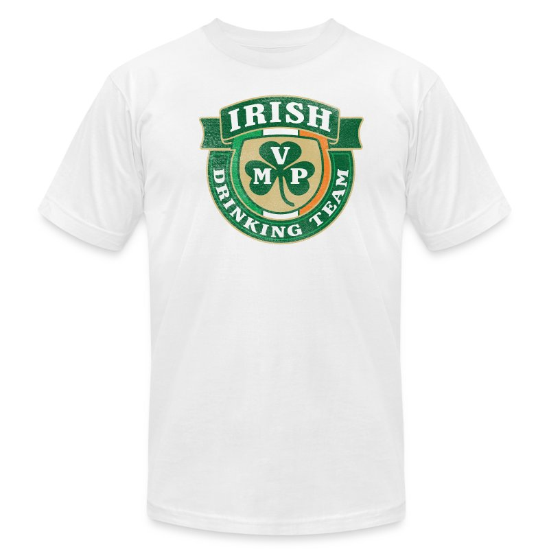 Irish Drinking Team MVP Shield (AA) - Men's Fine Jersey T-Shirt