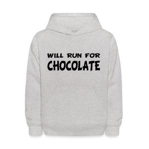 Will Run for Chocolate - Kids' Hoodie
