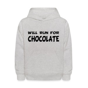 Will Run for Chocolate - Kids' Hoodie