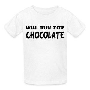 Will Run for Chocolate - Kids' T-Shirt