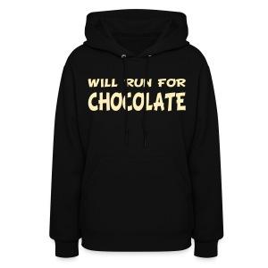 Will Run for Chocolate - Women's Hoodie