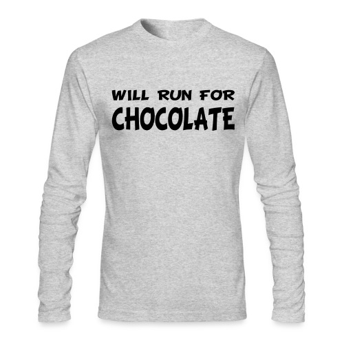 Will Run for Chocolate - Men's Long Sleeve T-Shirt by Next Level