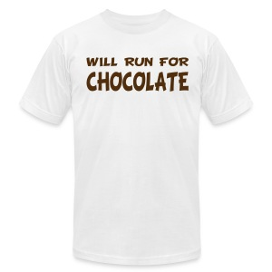 Will Run for Chocolate - Men's T-Shirt by American Apparel