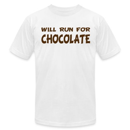 Will Run for Chocolate - Men's Fine Jersey T-Shirt