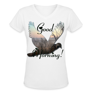 Good Morning - Women's V-Neck T-Shirt