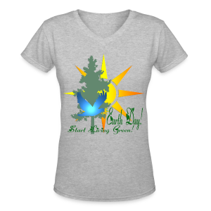 Earth Day - Women's V-Neck T-Shirt