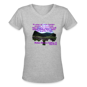christain and inspirational awareness - Women's V-Neck T-Shirt