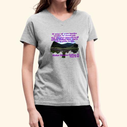 christain and inspirational awareness - Women's V-Neck T-Shirt