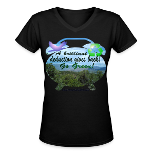 A brilliant deduction gives back - Women's V-Neck T-Shirt