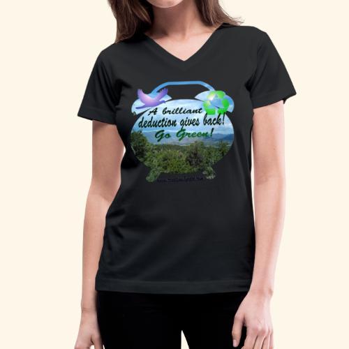 A brilliant deduction gives back - Women's V-Neck T-Shirt
