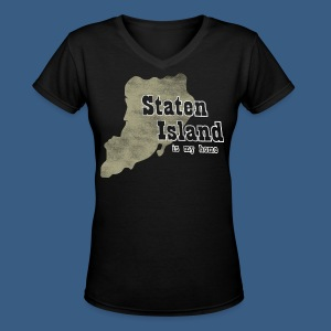 Staten Island is My Home - Women's V-Neck T-Shirt