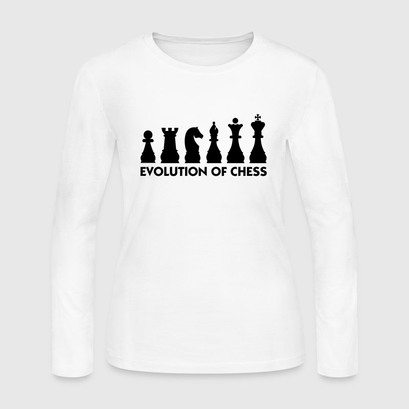 Evolution Chess 2 (1c) Long Sleeve Shirts - Women's Long Sleeve Jersey T-Shirt