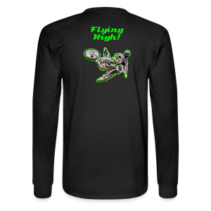 Men's LS Hanes T-Back-OffRd-Kx-neon - Men's Long Sleeve T-Shirt