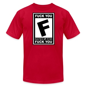 Rated F - For Fuck You - Mens Shirt  - Men's Fine Jersey T-Shirt