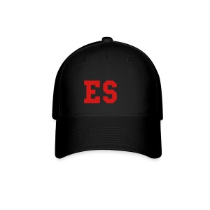 ES black ballcap w/red - Baseball Cap