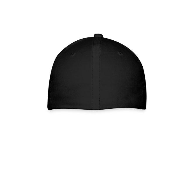 """ES"" black ballcap w/white"