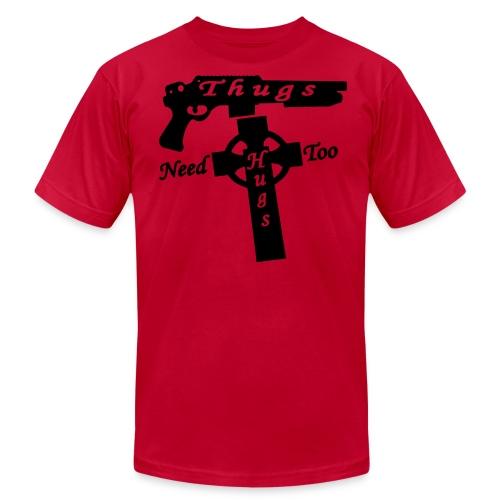Thugs Need Hugs Too - Men's Shirt - Men's Fine Jersey T-Shirt