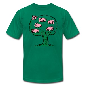 Pig Tree - Men's T-Shirt by American Apparel