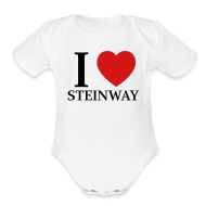 Baby Bodysuits ~ Baby Short Sleeve One Piece ~ I Love Steinway