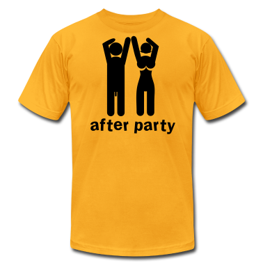 after party naked man and woman a bit rude! T-Shirts