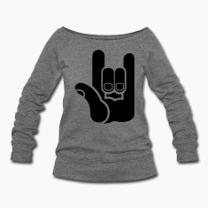 devil horns metal music symbol ROCK! Long Sleeve Shirts