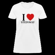 T-Shirts ~ Women's T-Shirt ~ I Heart Steinway