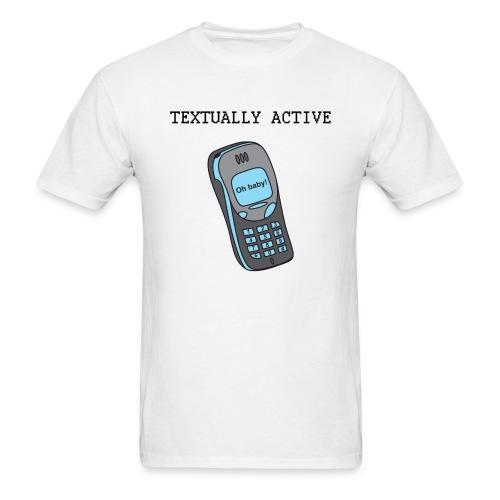Textually Active (Men) - Men's T-Shirt