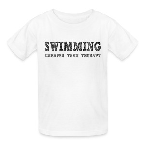 Swimming Cheaper Than Therapy - Kids' T-Shirt