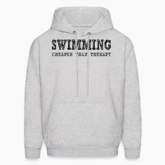 Swimming Cheaper Than Therapy Hoodies