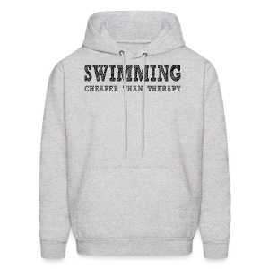 Swimming Cheaper Than Therapy - Men's Hoodie