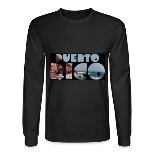 Black Puerto Rico Shirt - Men's Long Sleeve T-Shirt