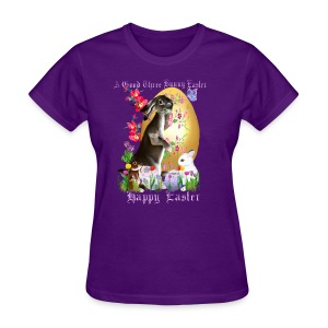 A Good Three Bunny Easter (lettered) - Women's T-Shirt