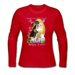 A Good Three Bunny Easter (lettered) - Women's Long Sleeve Jersey T-Shirt