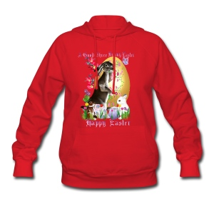 A Good Three Bunny Easter (lettered) - Women's Hoodie