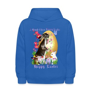 A Good Three Bunny Easter (lettered) - Kids' Hoodie