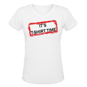 Jersey Shore It's T-Shirt Time V-Neck Tee - Women's V-Neck T-Shirt