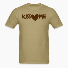kiss me with a love heart T-Shirts