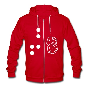 Brail Dice - Unisex Fleece Zip Hoodie by American Apparel