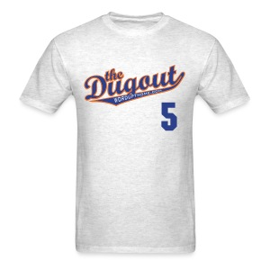 DudleyDoWright #5 (David Wright) Mets Dugout T (Ash) - Men's T-Shirt