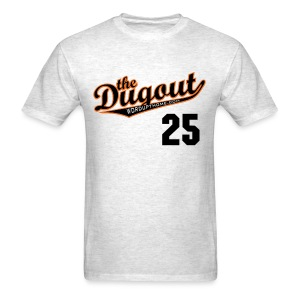 LicenseToPills #25 (Barry Bonds) Giants Dugout T (Ash) - Men's T-Shirt