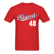 T-Shirts ~ Men's T-Shirt ~ ToriiMisspelling #48 (Torii Hunter) Angels Dugout T