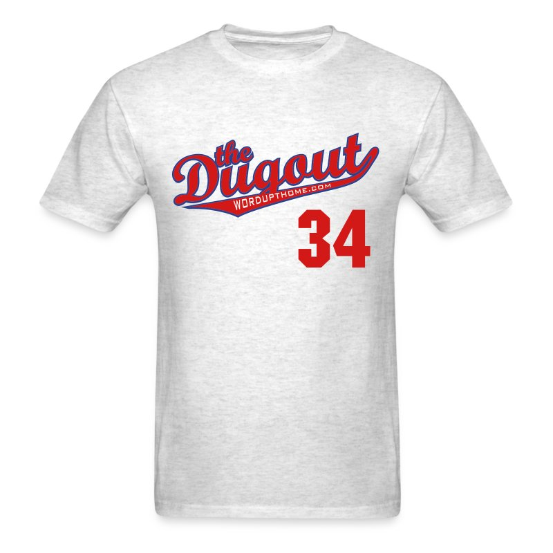 HooligansHalladay #34 (Roy Halladay) Phillies Dugout T (Ash) - Men's T-Shirt