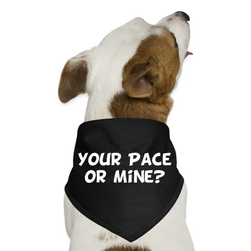 Your Pace or Mine - Dog Bandana